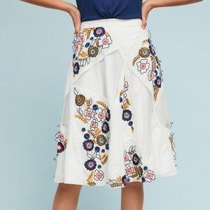 Anthropologie Miley Floral Skirt